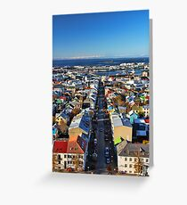 Reykjavik Cityscape Greeting Card