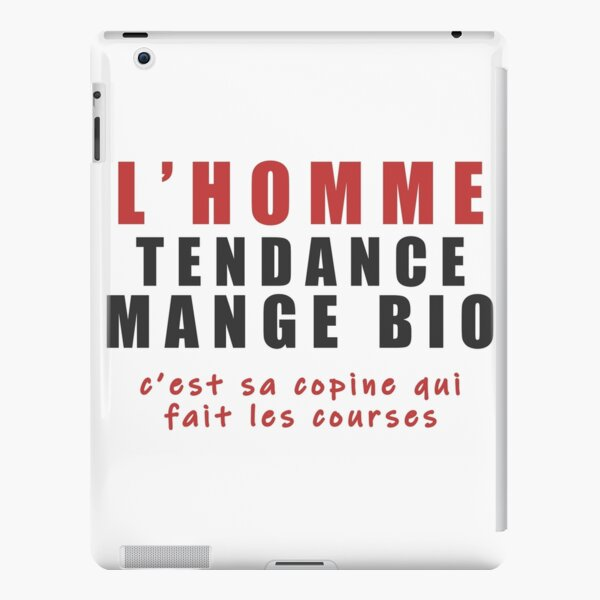 The trendy man eats organic (his girlfriend does the shopping) iPad Snap Case