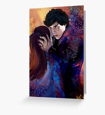 Sherlock and Molly Greeting Card
