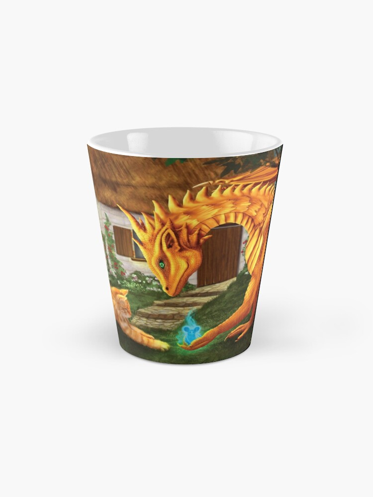 Alternate view of Cat and Dragon Mug