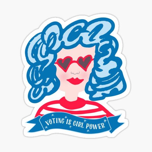 Voting is Girl Power Sticker