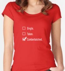 Single. Taken. Cumberbatched. Women's Fitted Scoop T-Shirt