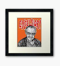 Stan Lee Excelsior  Framed Print