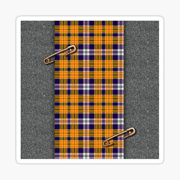 orange tartan Sticker