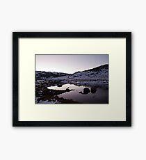 Spencers Creek - Winter Dusk 03 Framed Print