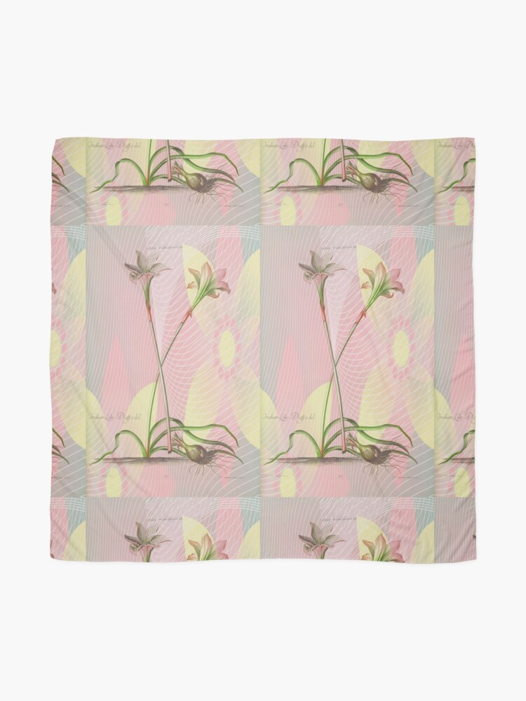 Alternate view of Botanical Print-Indian Lily Daffodil Scarf