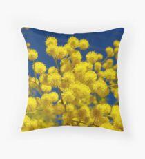 Acacia - Golden Wreath Wattle Flower  Throw Pillow