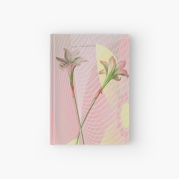 Botanical Print-Indian Lily Daffodil Hardcover Journal