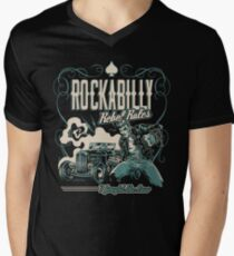 Rockabilly Rebel Rules Men's V-Neck T-Shirt