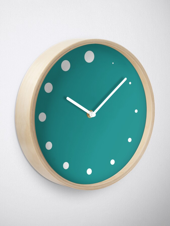 Alternate view of Growing Dots Teal Clock