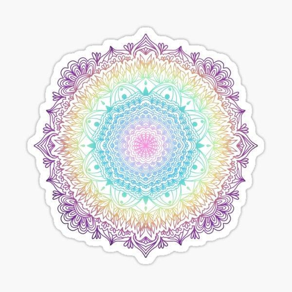 Unicorn Rainbow Gradient Mandala Sticker