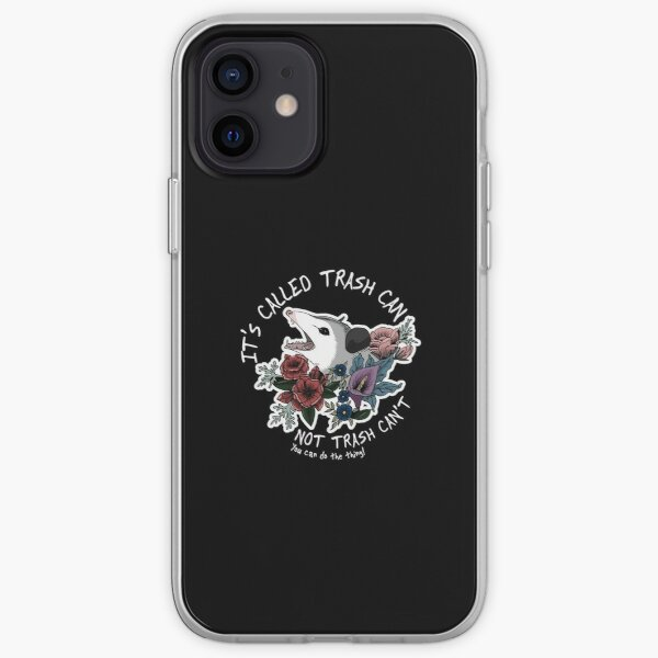 Possum with flowers - It's called trash can not trash can't  iPhone Soft Case