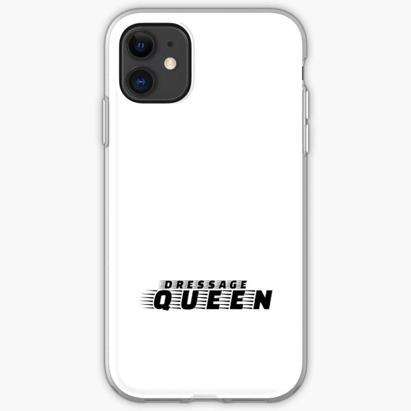 Dressage Queen horse riding Black and White iPhone Soft Case