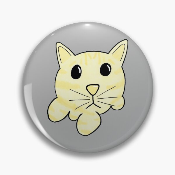 Popcorn Cat (Grey Background) Pin