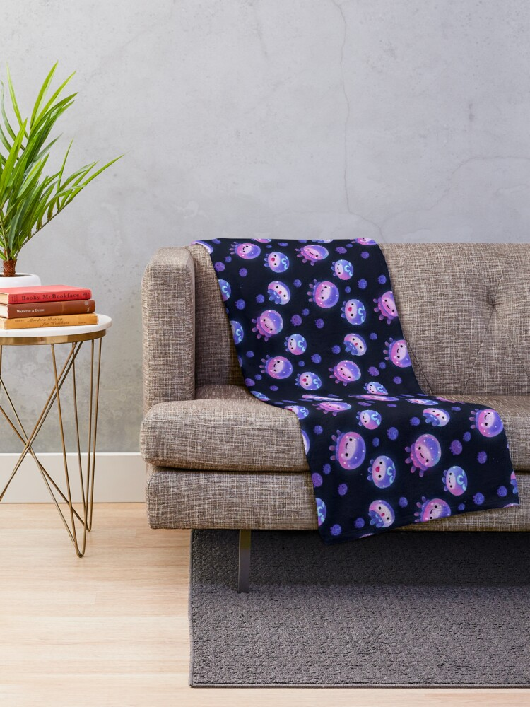 Alternate view of Baby jellyfish Throw Blanket