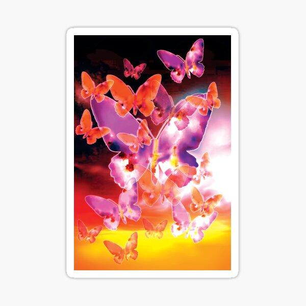 Butterfly Sky - Pink Sticker
