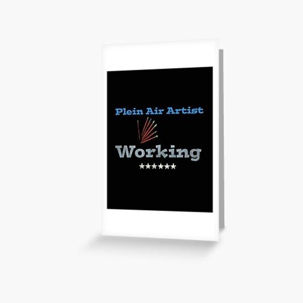 Plein air artist working Greeting Card