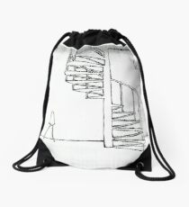 In remember : A chair and the stairs Drawstring Bag
