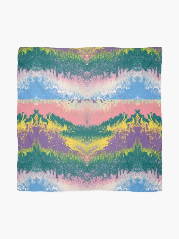 """Alternate view of Abstract Painting-""""South Beach Ocean Waves"""" Scarf"""