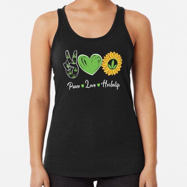 Paz Amor Sol Herbalife Camiseta con espalda nadadora