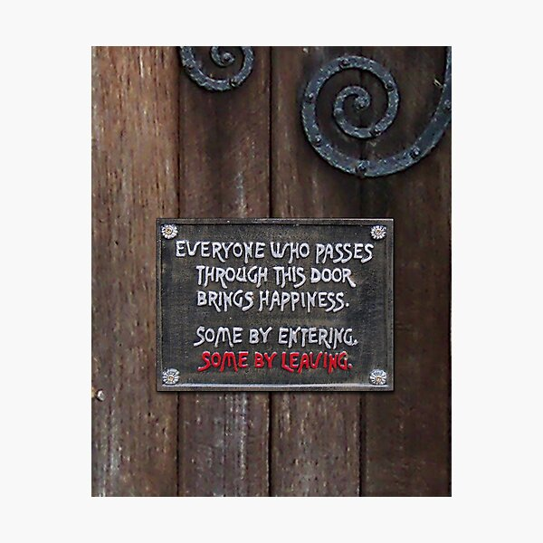 A Humorous Sign Photographic Print