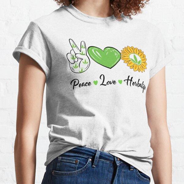 Paz Amor Sol Herbalife Camiseta clásica