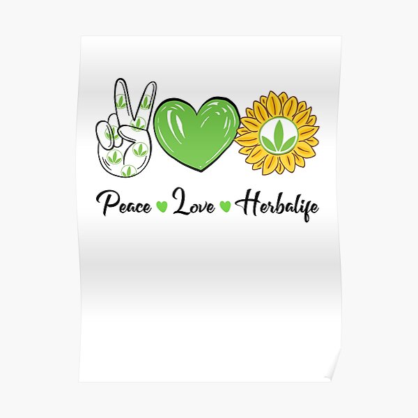 Paz Amor Sol Herbalife Póster