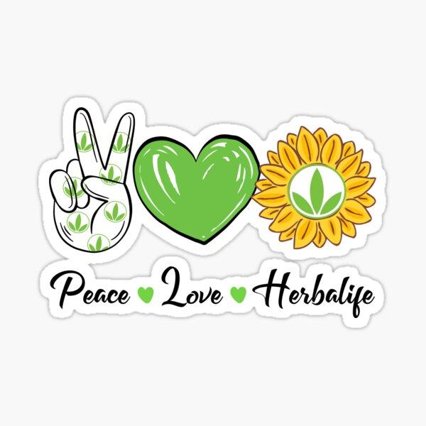 Paz Amor Sol Herbalife Pegatina