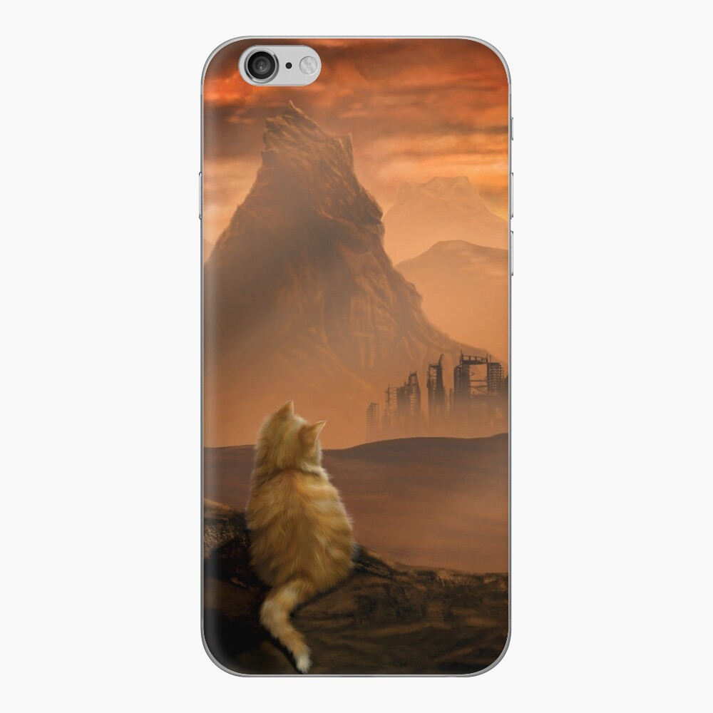 Kitten in the Wasteland iPhone Skin