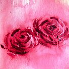 Roses are rec watercolor by artistpixi
