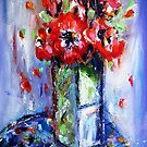 Flowers in pot painting  by artistpixi