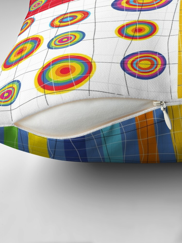 Alternate view of Patchwork 2 Throw Pillow
