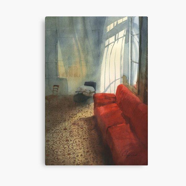 Red sofa Canvas Print