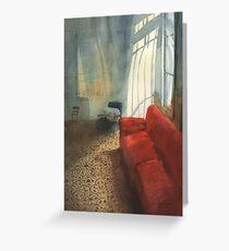 Red sofa Greeting Card