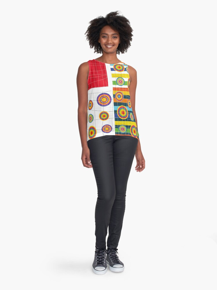 Alternate view of Patchwork 3 Sleeveless Top