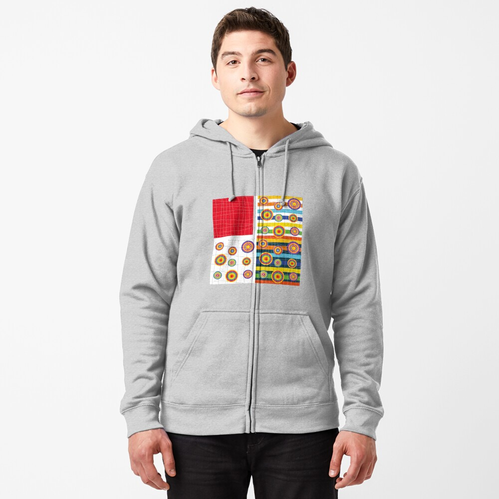 Patchwork 3 Zipped Hoodie