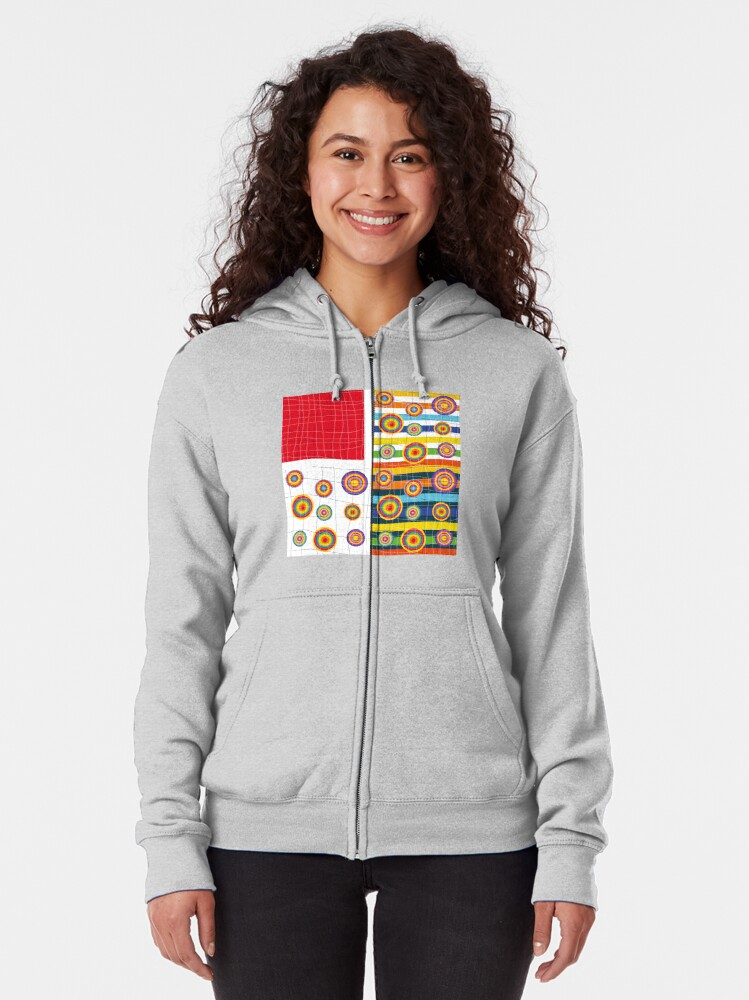 Alternate view of Patchwork 3 Zipped Hoodie