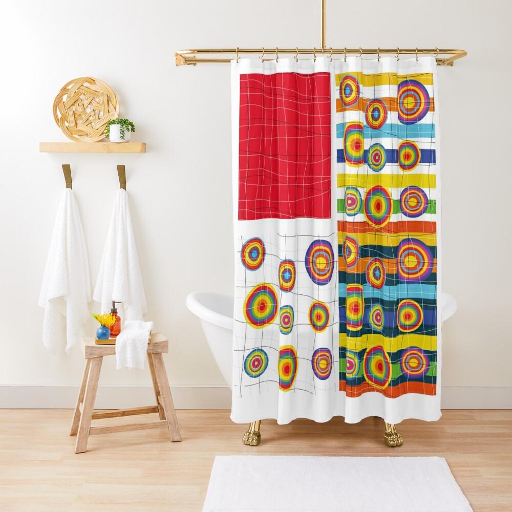 Patchwork 3 Shower Curtain
