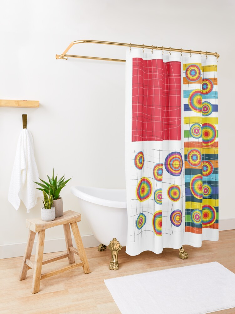 Alternate view of Patchwork 3 Shower Curtain