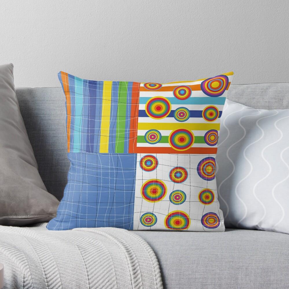 Patchwork 4 Throw Pillow