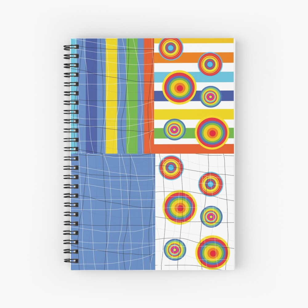 Patchwork 4 Spiral Notebook