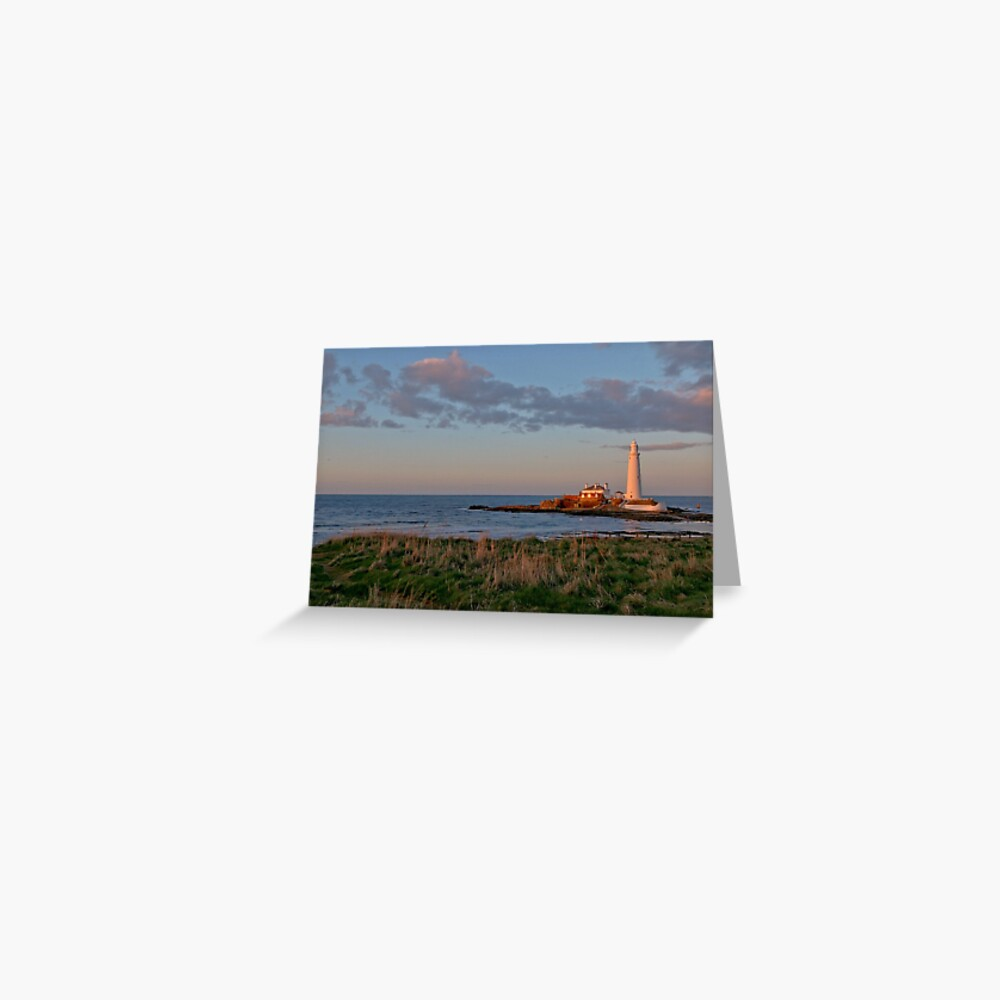 St Marys Lighthouse Greeting Card