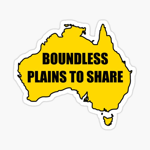 Boundless Plains to Share Sticker