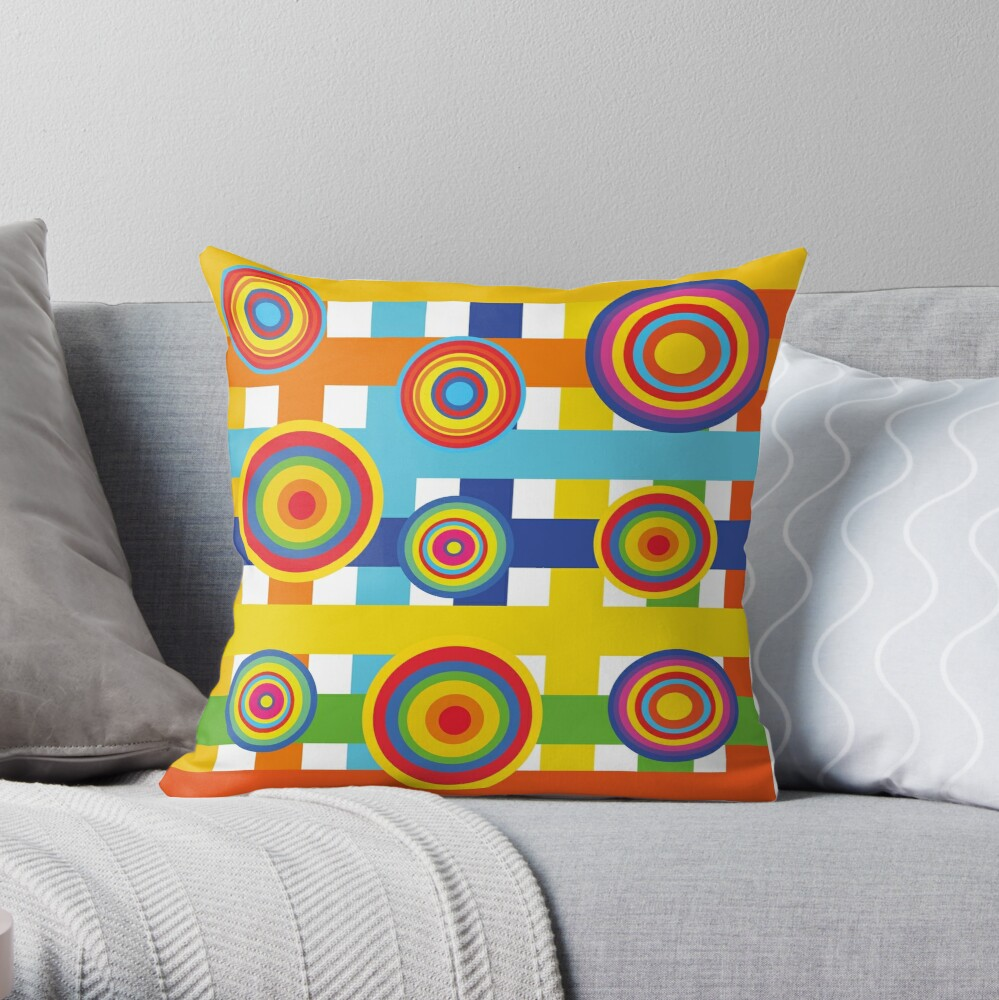 Planets 2 Throw Pillow