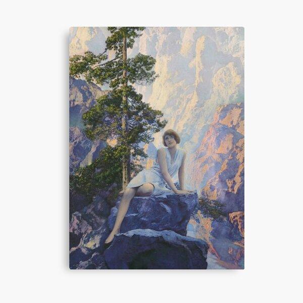 Solitude -  Maxfield Parrish midcentury art deco/nouveau illustration Canvas Print