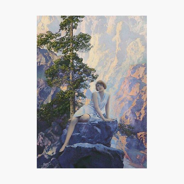 Solitude -  Maxfield Parrish midcentury art deco/nouveau illustration Photographic Print
