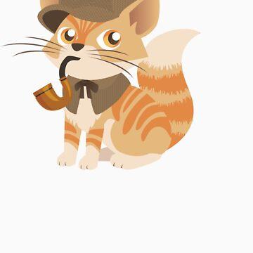 Cute Sherlock Holmes Kitten by blackunicorn