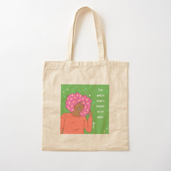 I am going to create a beautiful life for myself Cotton Tote Bag