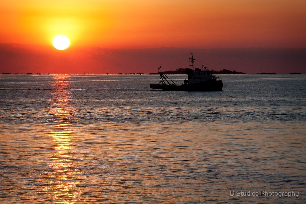 Sunset in Colonia Del Sacramento   by D Studios Photography