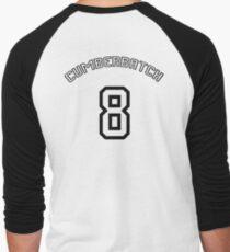 Cumberbatch 8 /black text/ Men's Baseball ¾ T-Shirt